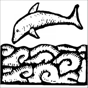 Dolphin coloring page 066