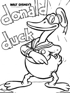 Donald duck sketch coloring page