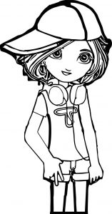 Donna cartoon girl coloring page