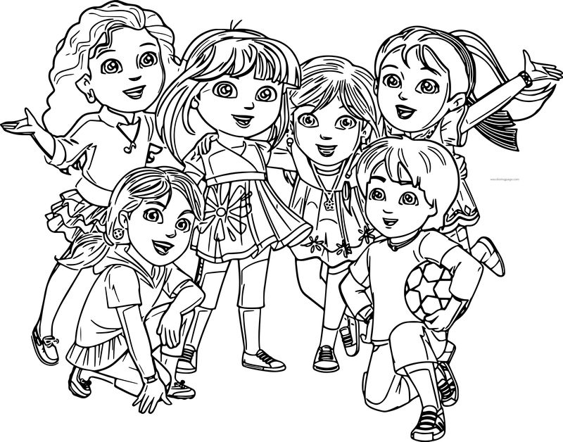 Dora And Friends Coloring Page