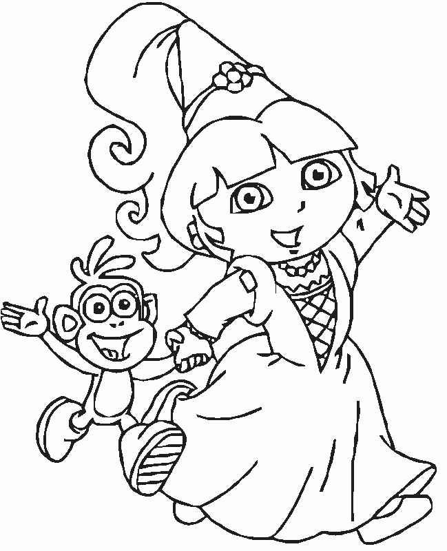 Dora Coloring Pages 1