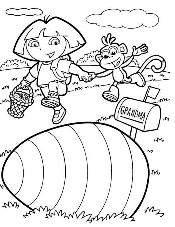 Dora Coloring Pages2
