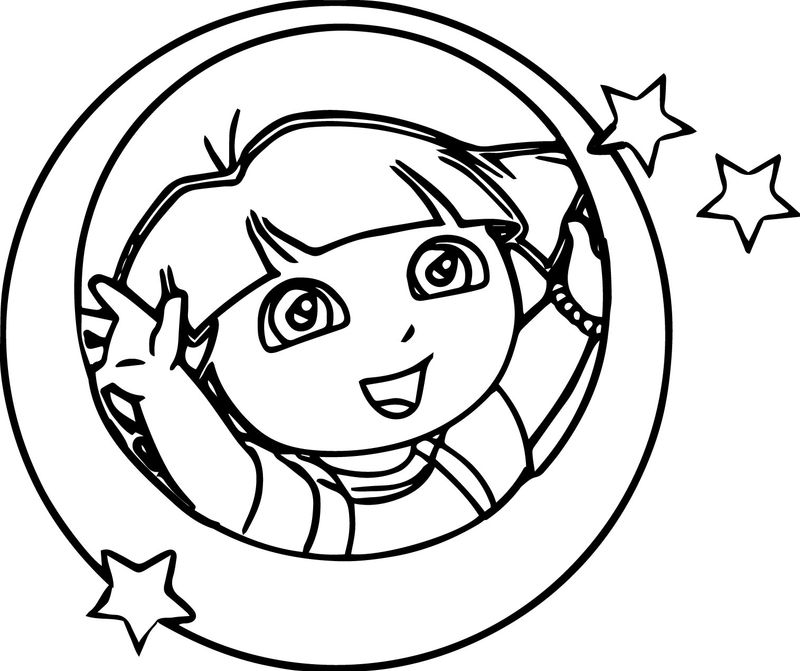 Dora Oval Coloring Page Star Coloring Page