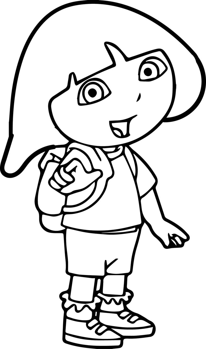 Dora You Coloring Page