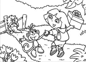 Dora Coloring Pages 08