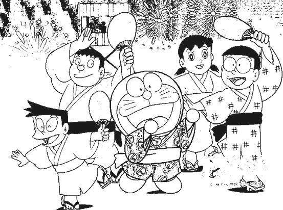 Doraemon And Friends Coloring Book Activities