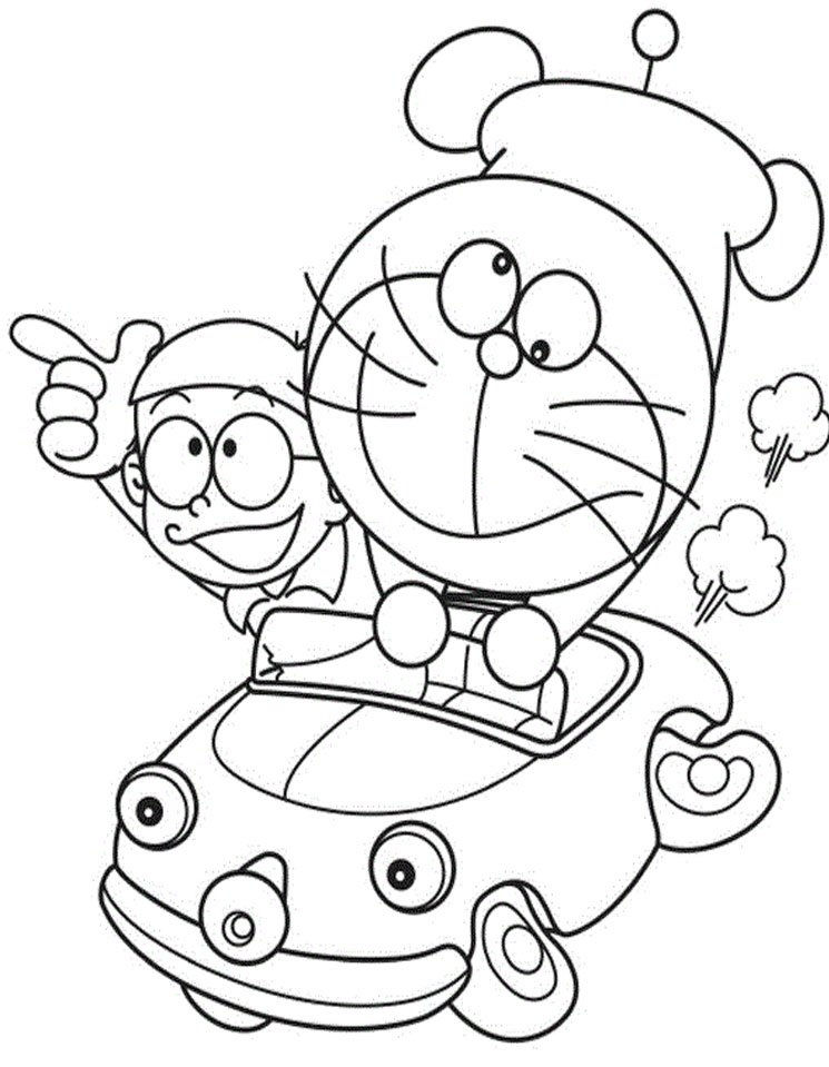 Doraemon And Nobita Colouring Pages