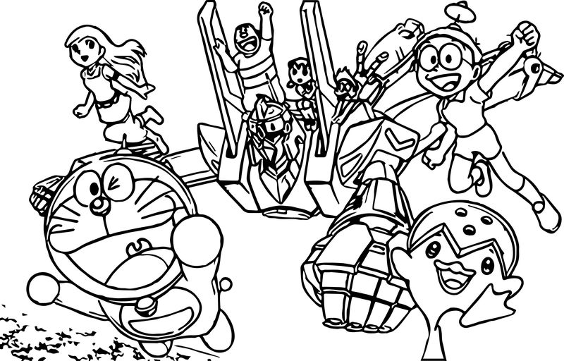 Doraemon In Nobita And The Steel Troops New Age Coloring Page