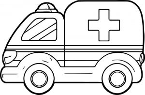 Download ambulance coloring pages 1