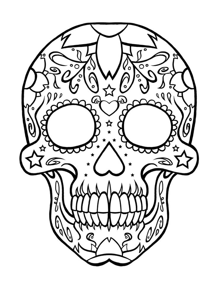 Download Day Of The Dead Coloring Pages 001