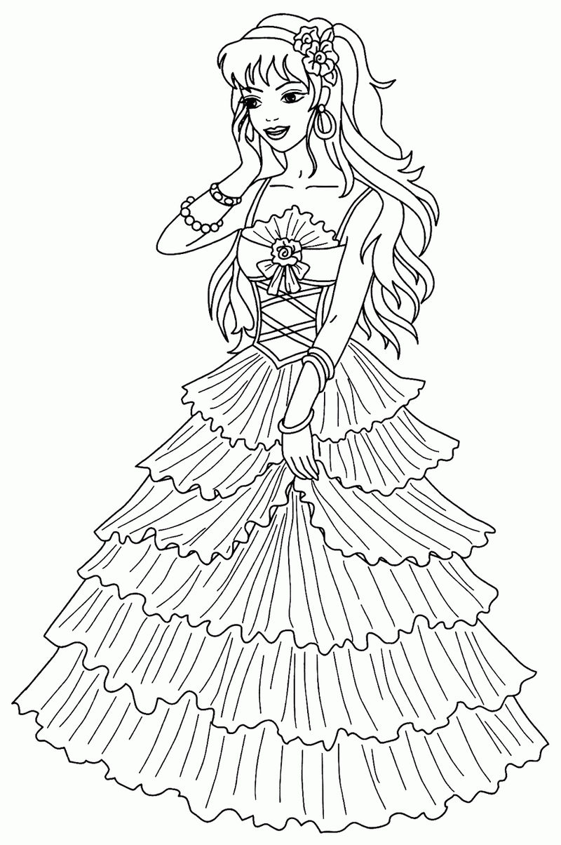 Download Princess Coloring Pages 001