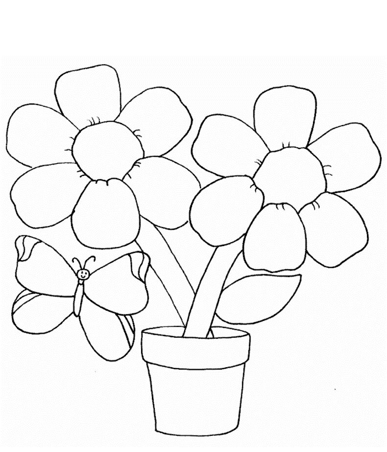 Downloadable Flower Coloring Pages 001