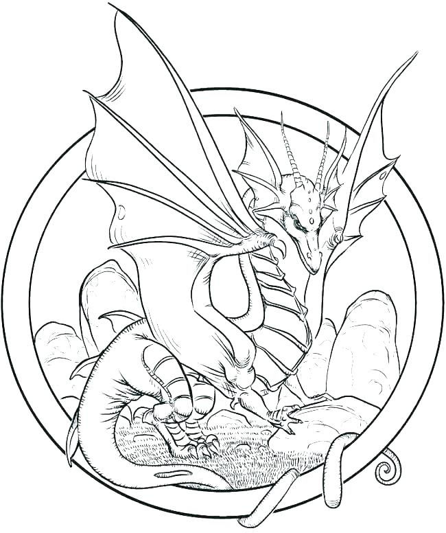 Dragon Adult Coloring Pages To Print