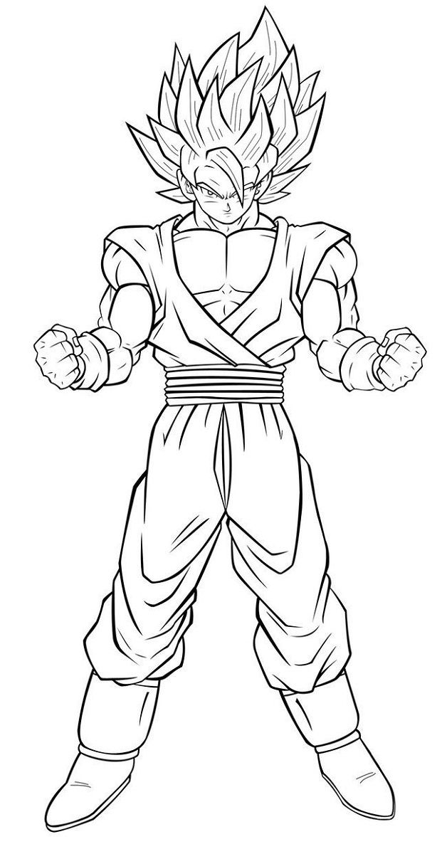 Dragon Ball Super Coloring Pages Goku Super
