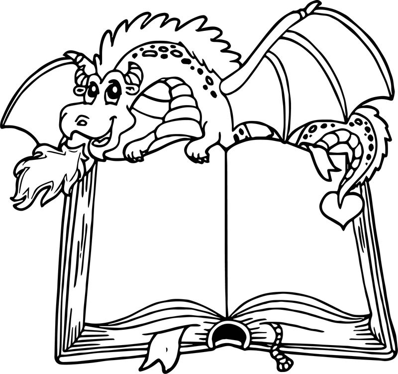 Dragon Book Coloring Page
