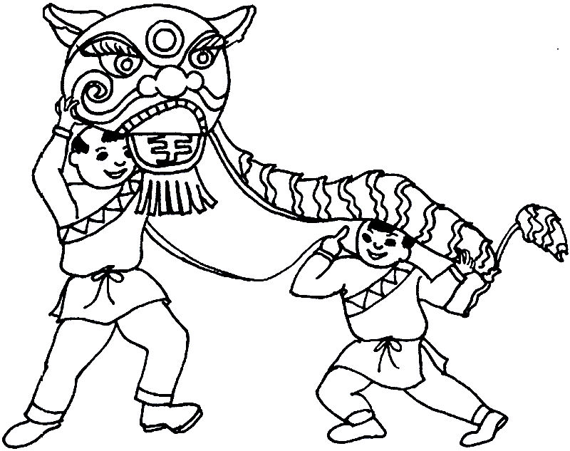 Dragon Chinese New Year Coloring Pages