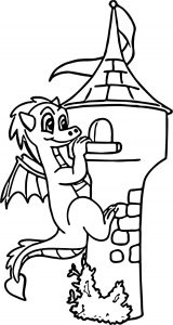 Dragon climb castle coloring page