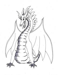 Dragon coloring pages 001