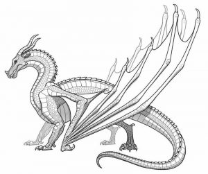 Dragon coloring pages advanced