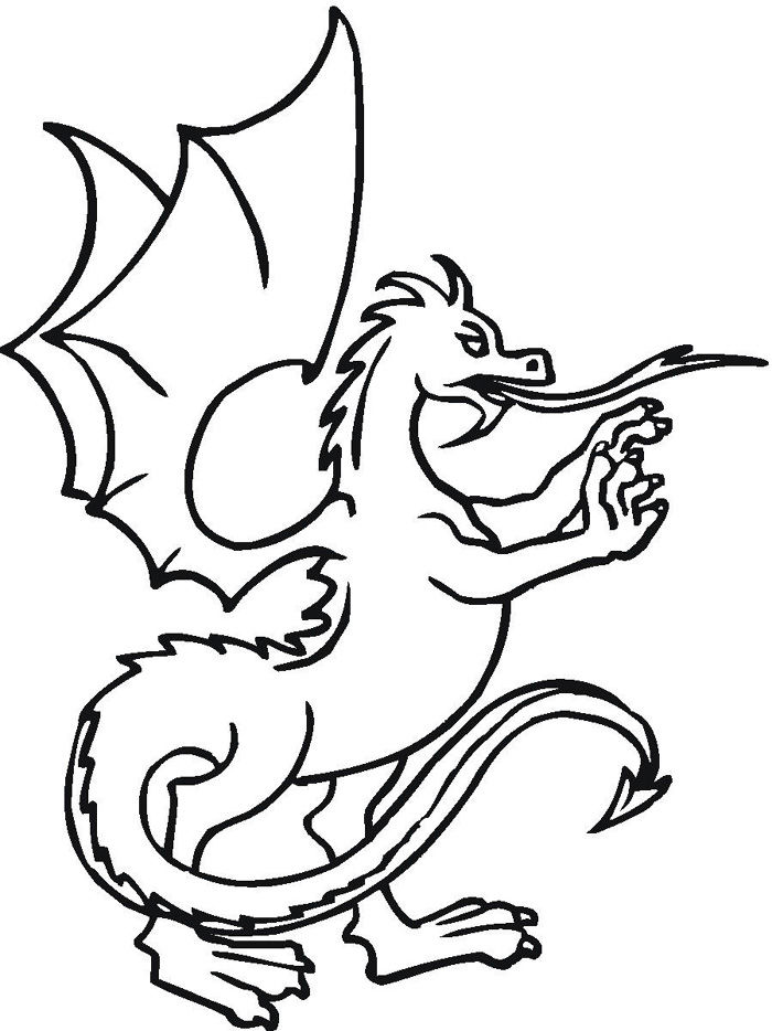 Dragon Coloring Pages Easy