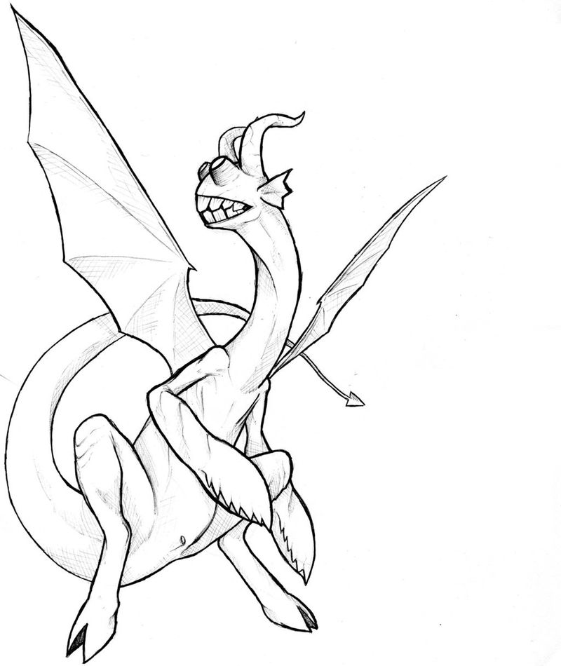 Dragon Coloring Pages Realistic 001