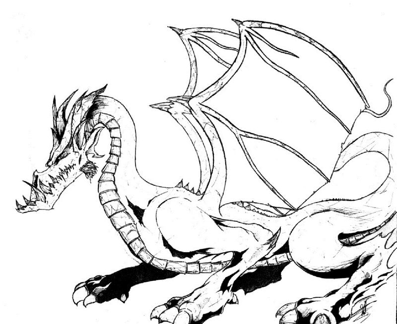 Dragon Colouring Pages For Kids