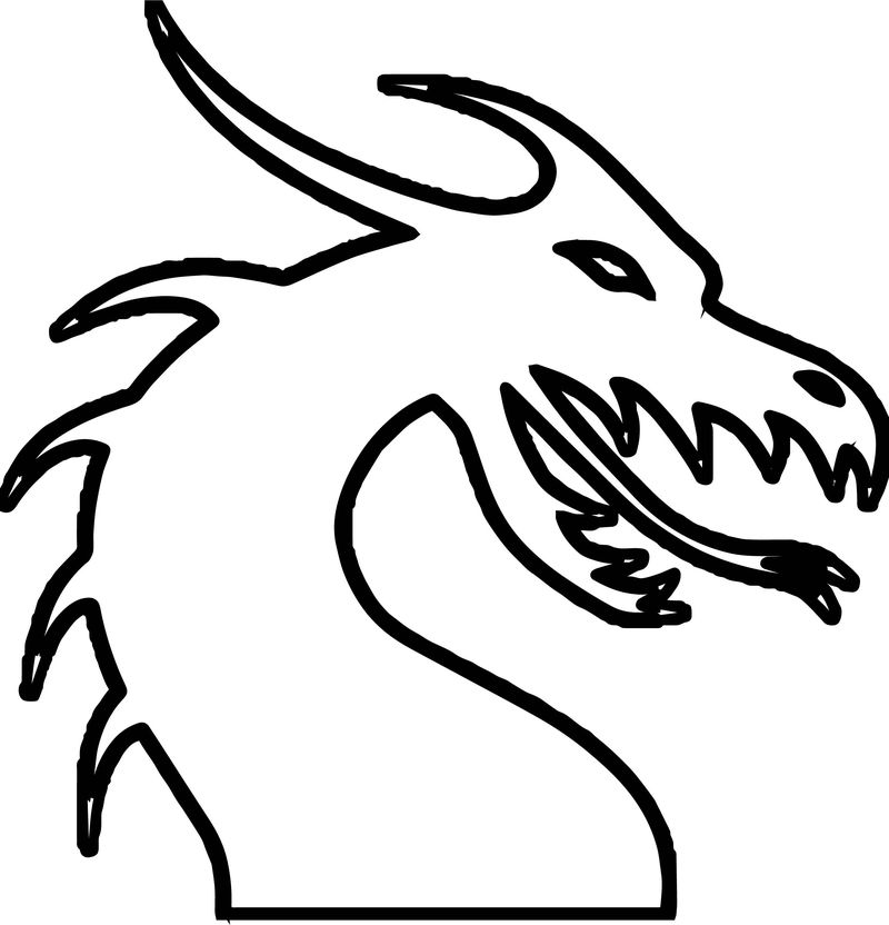 Dragon Outline Coloring Page
