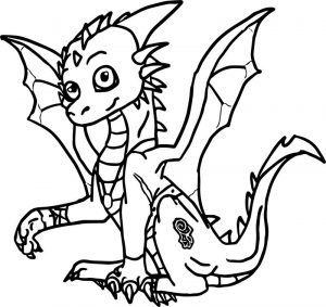 Dragon style coloring page