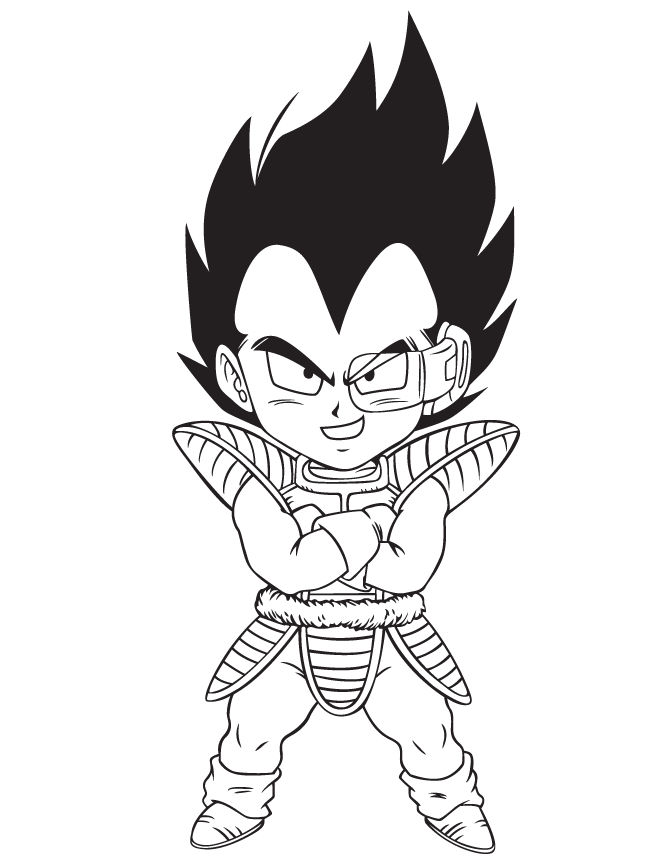 Dragonball Z Fan Art Kid Vegeta 001