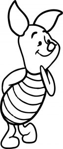 Draw piglet from winnie the pooh step coloring page