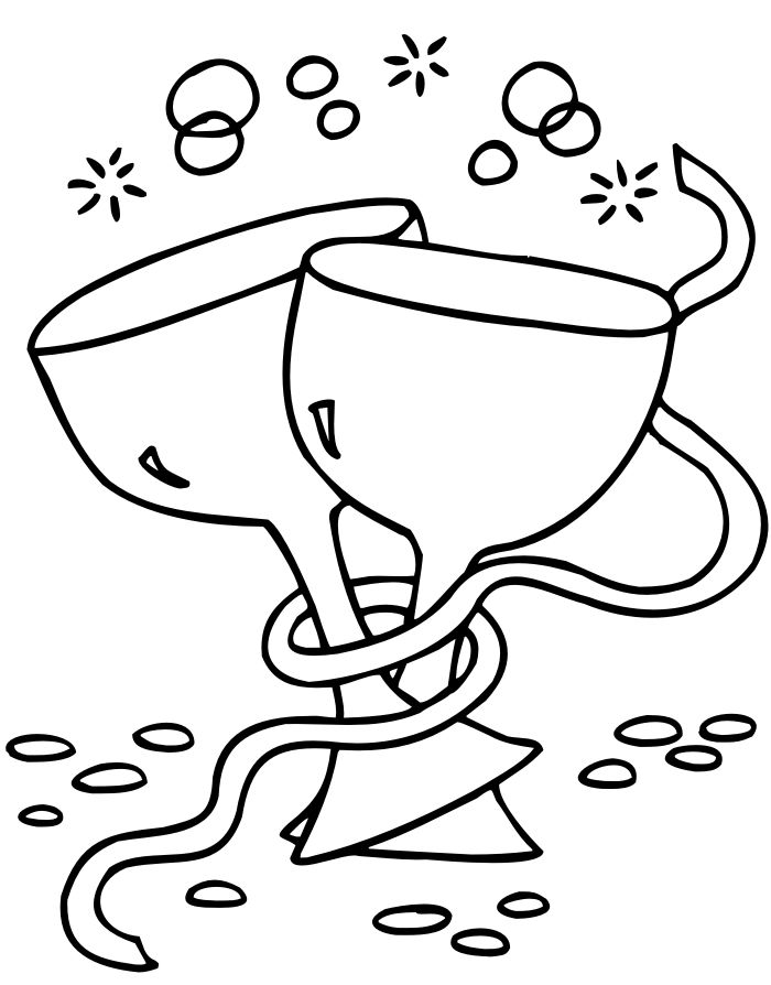 Drinks Happy New Year Coloring Pages