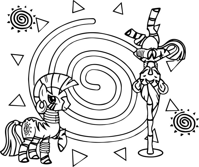 Droid Wallpaper Zecora Coloring Page