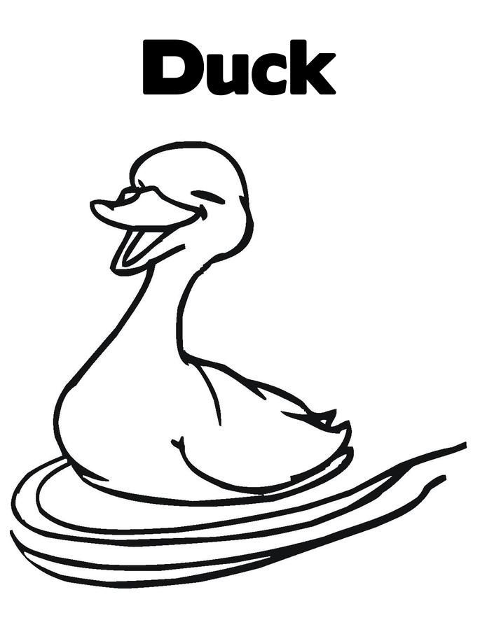 Duck Coloring Pages For Kids Printable