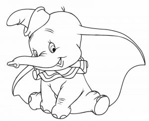 Dumbo disney coloring pages