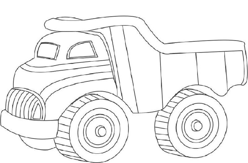 Dump Truck Pictures For Kids Coloring
