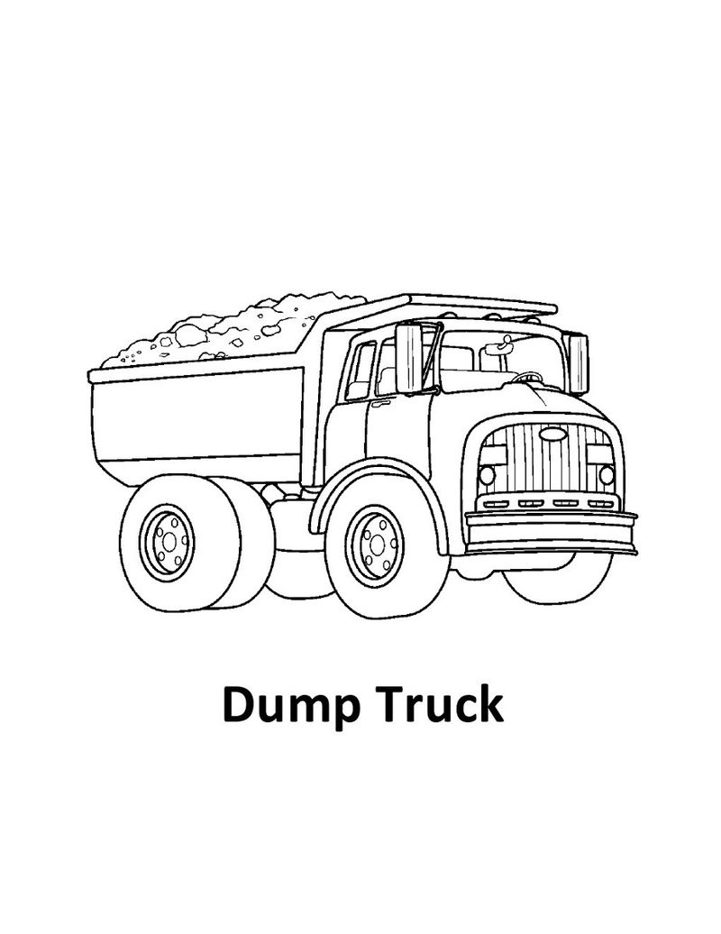 Dump Truck Pictures For Kids Printable