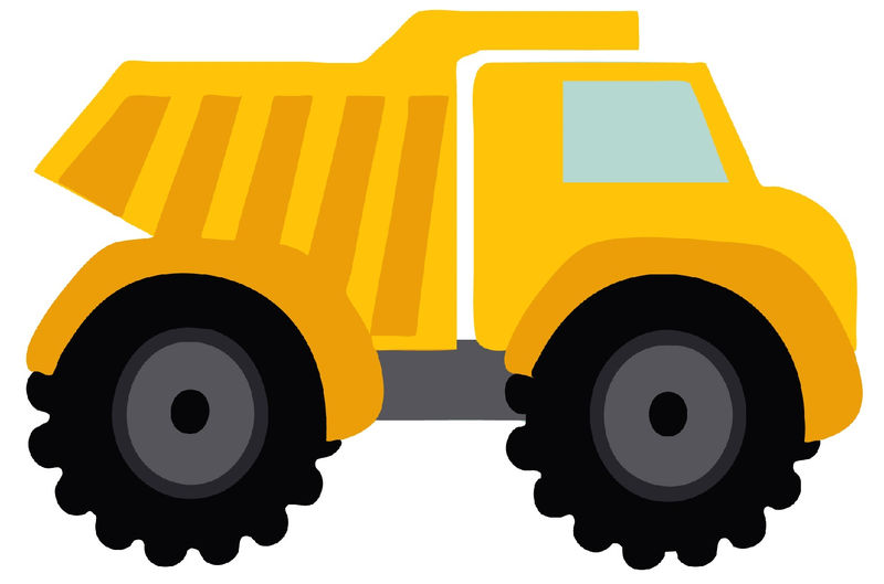 Dump Truck Pictures For Kids Yellow