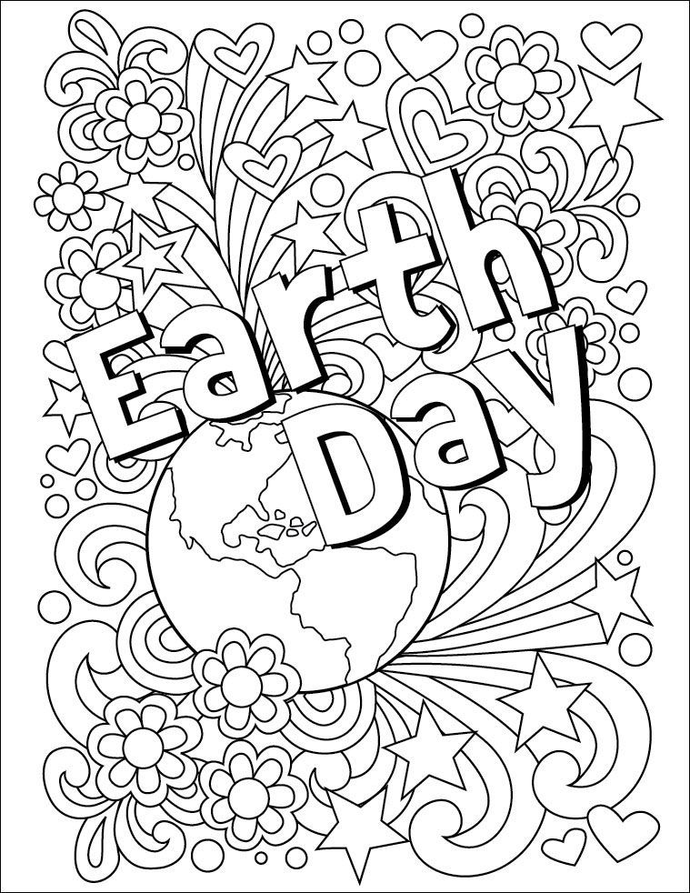Earth Day Coloring Worksheets