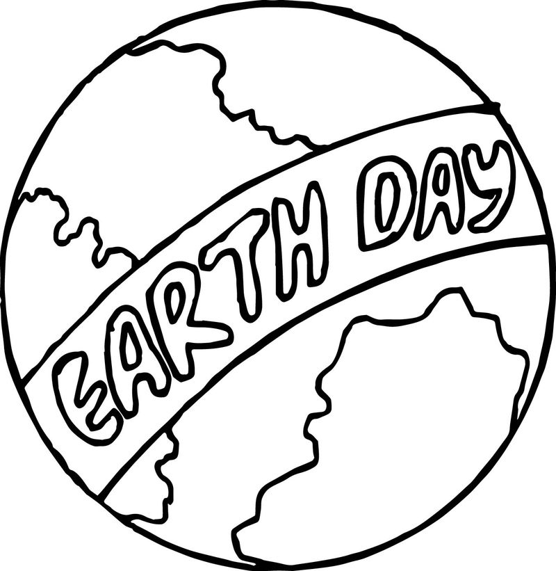 Earth Day Globe Coloring Page