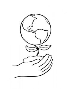 Earth day kindergarten coloring page