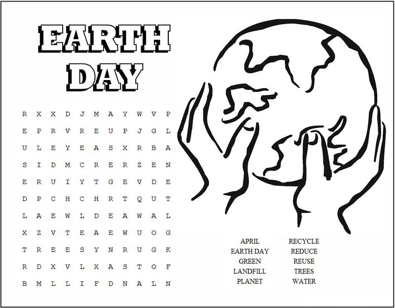 graphic about Earth Day Word Search Printable known as Planet Working day Phrase Glimpse Printable - Coloring Sheets