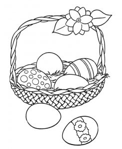 Easter basket coloring page printables