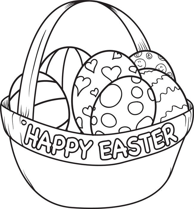 Easter Basket Coloriong Page