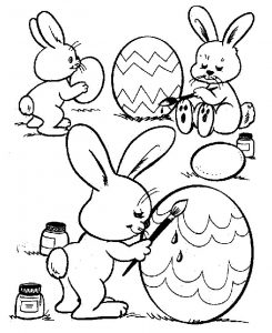 Easter bunny and eggs coloring pages1