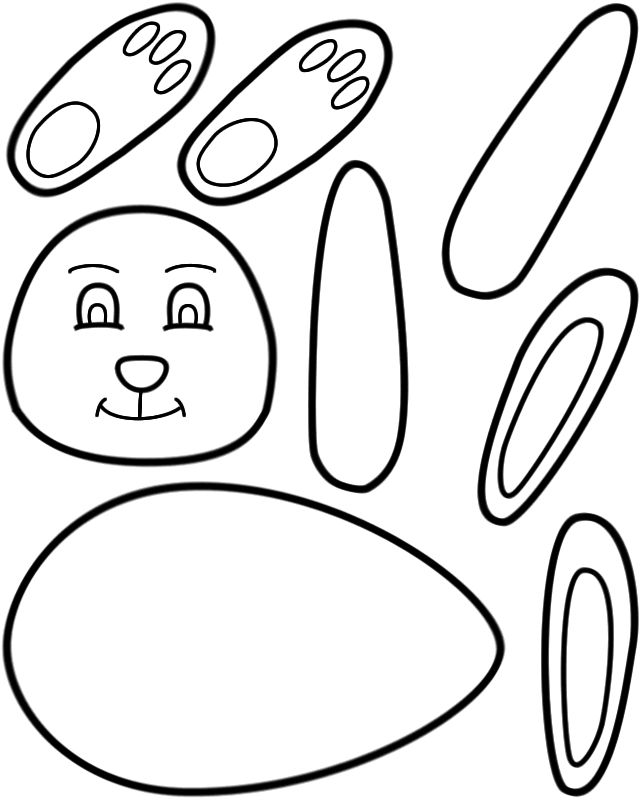 Easter Bunny Paper Doll Cutout Printable Activity