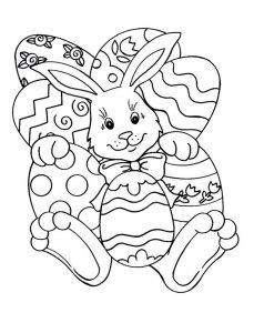 Easter coloring page bunny