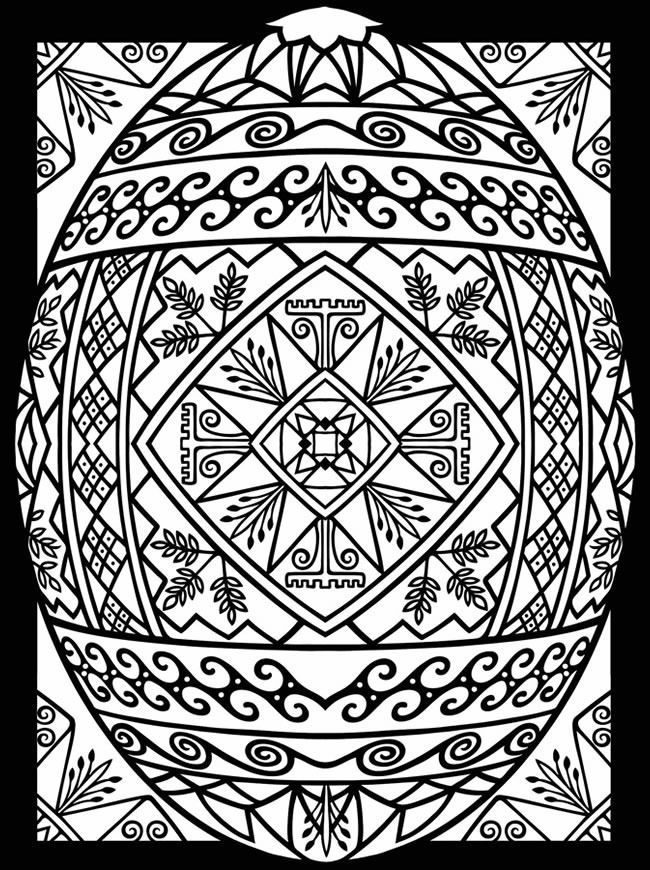 Easter Coloring Pages For Adults Free