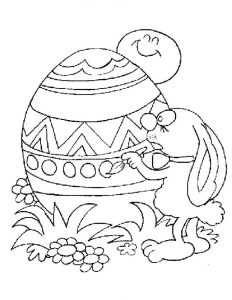 Easter eggs color pages