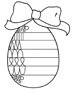 Easter finish the pattern worksheet