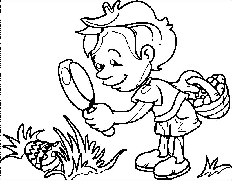 Easter Images Hunt Coloring Page